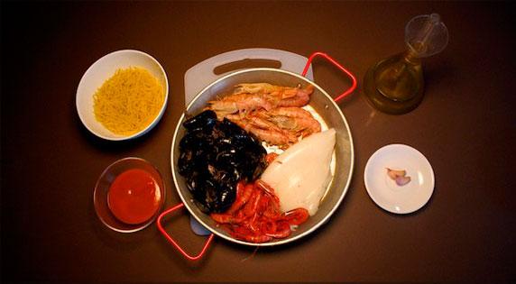 Ingredients. Noodle Paella.