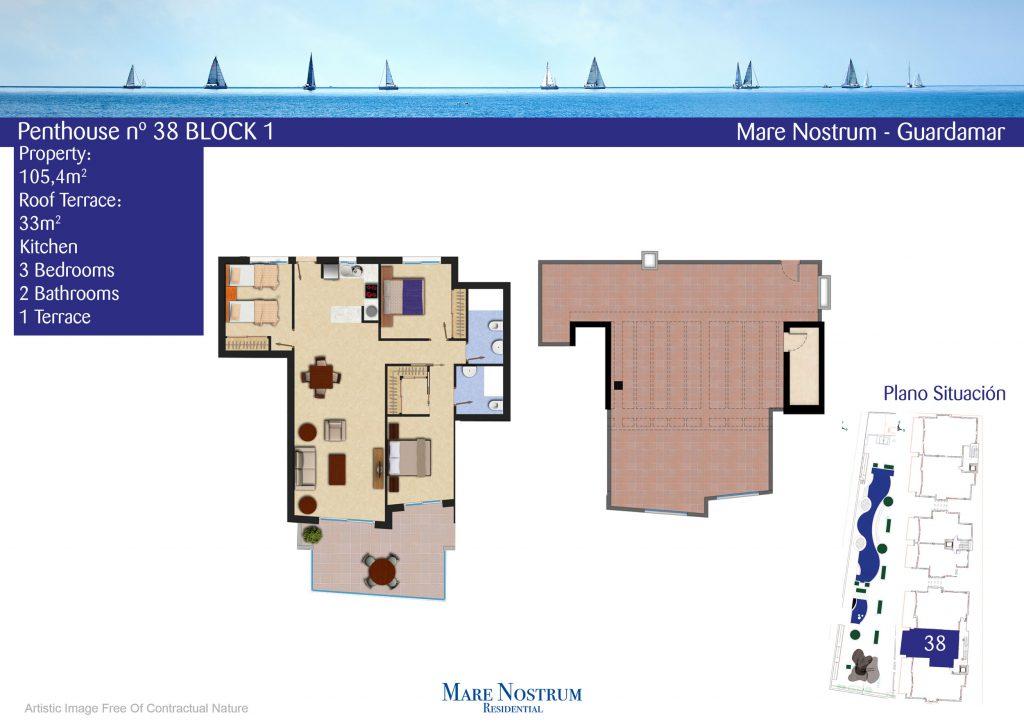 Plan model Penthouse 38