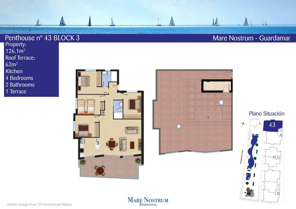 Plan penthouse 43