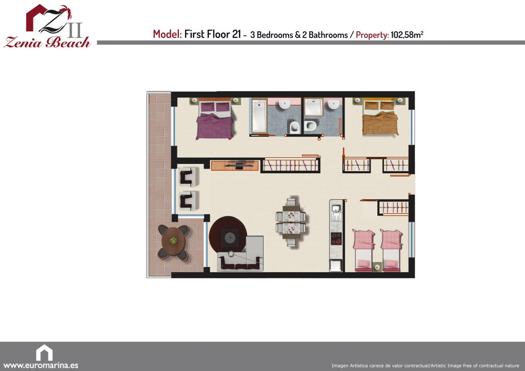 Plan model first floor