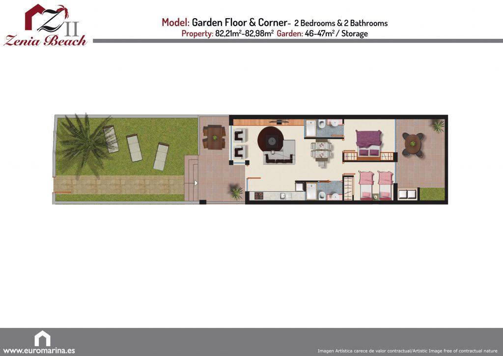 Plan model garden