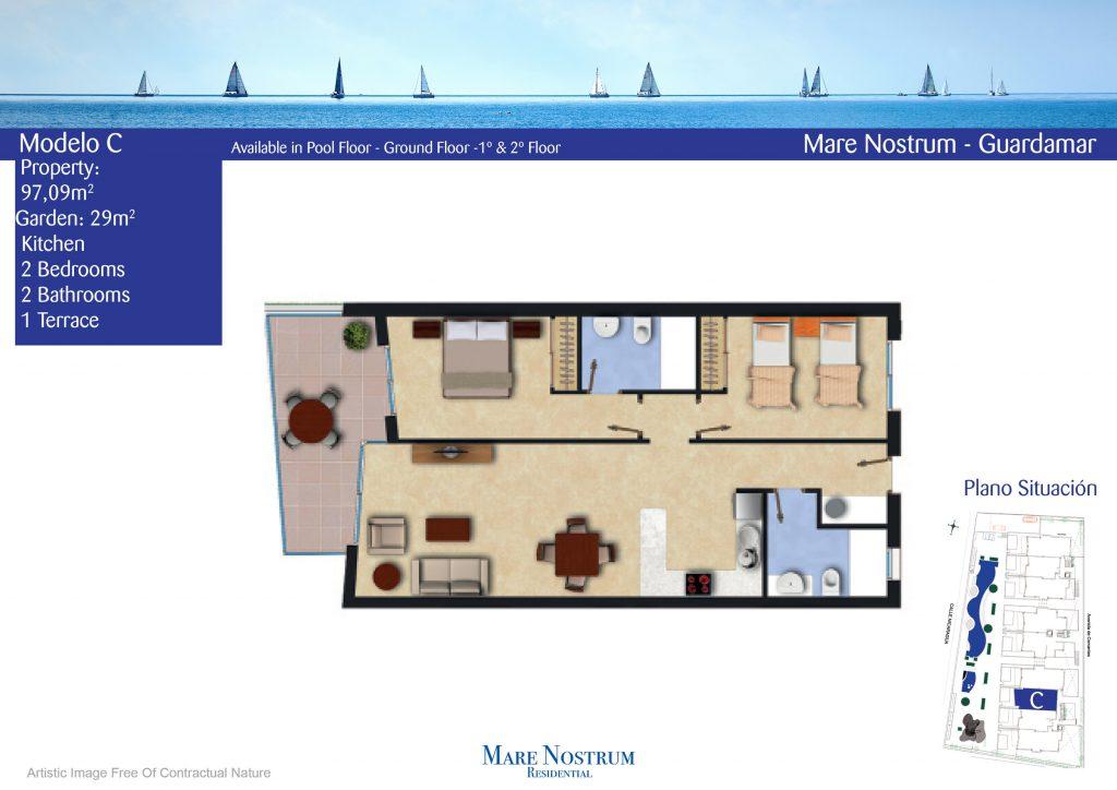 Plan Apartment model c