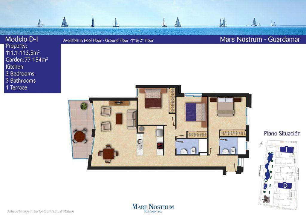Plan Apartment Model D-I