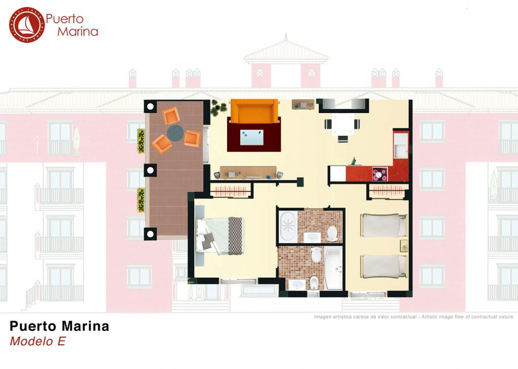 Plan model E Puerto Marina