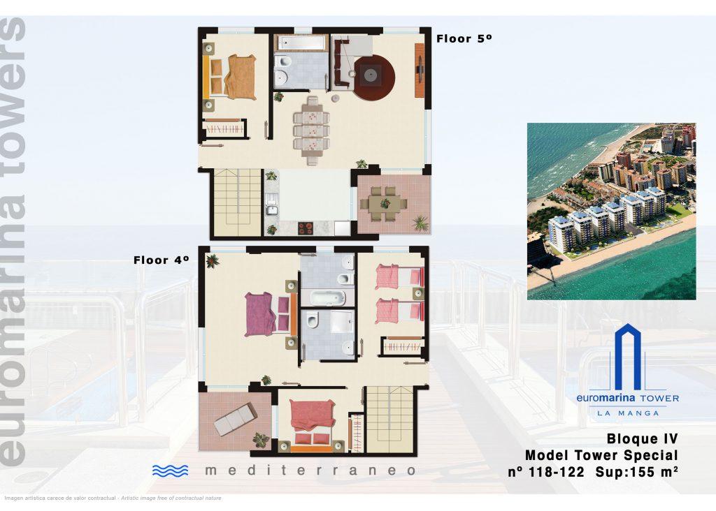 Plan duplex La Manga
