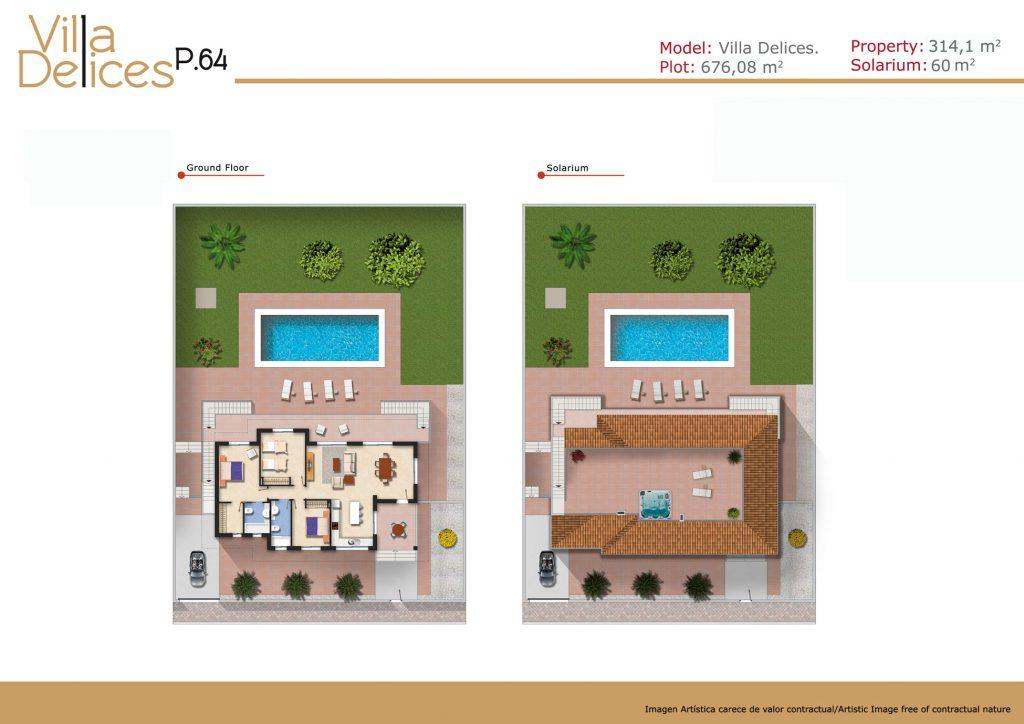 Plan villa delices