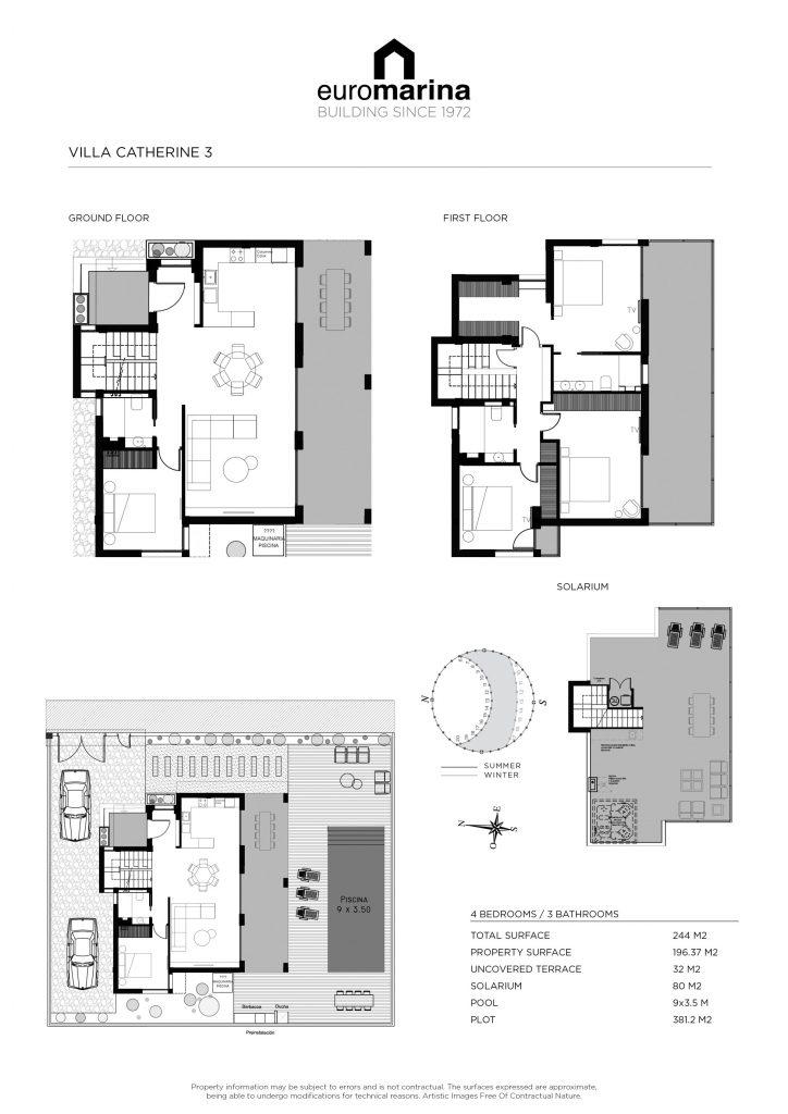 plano villa catherine 3