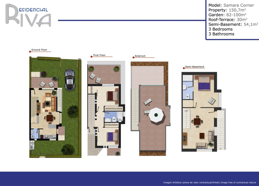 Plano samara 3 bedrooms