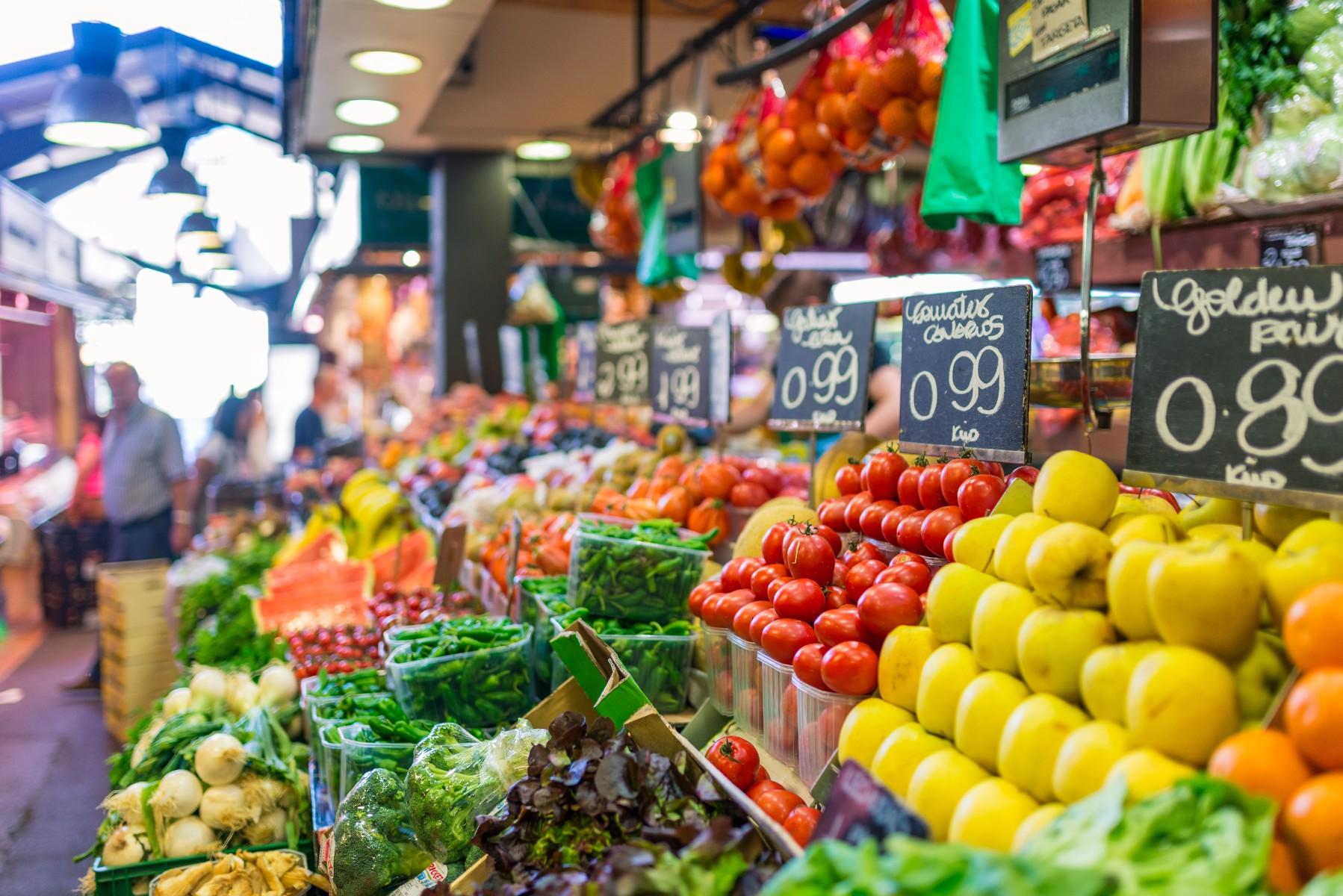 Fruta y verdura en mercado